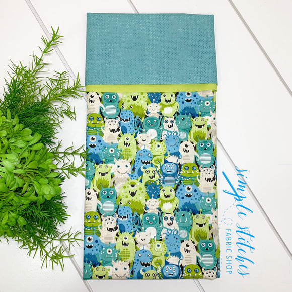 Monster Standard Pillowcase Kit with Free Pattern