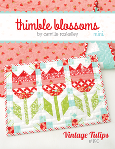Vintage Tulips Patch  Quilt MINI Pattern by Thimble Blossoms