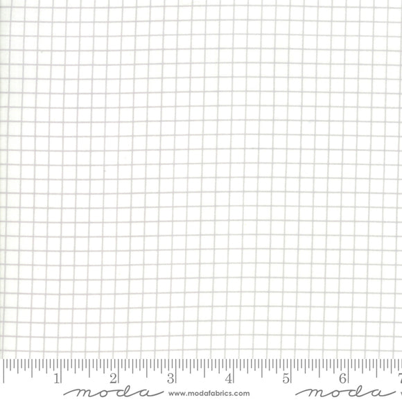 Ruby Star Society Grid White and Gray Yardage by Moda -RS3005 12 - PRICE PER 1/2 YARD