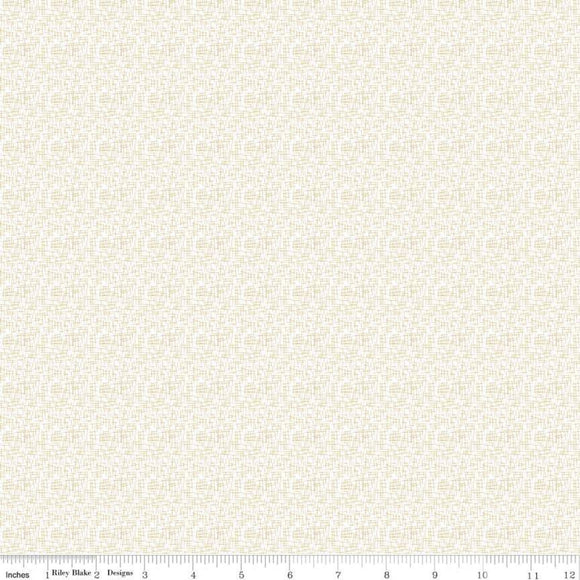 Mini Hashtag in Gold Sparkle Yardage by RBD for Riley Blake Designs SC125 - PRICE PER 1/2 YARD