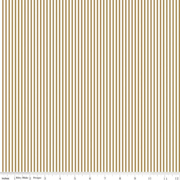 Stripe Gold Sparkle Yardage for Riley Blake Designs SC545-GOLD- PRICE PER 1/2 YARD