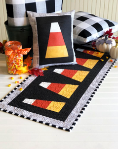 Candy Corn Tablerunner & Pillow Pattern by Simply Eilene