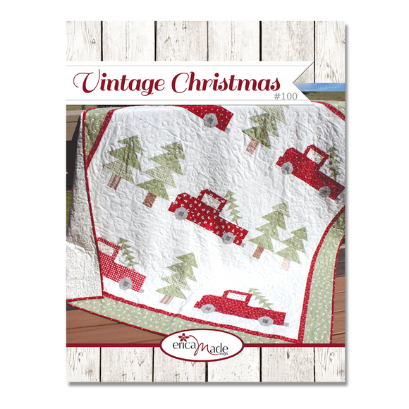 Vintage Christmas Pattern by Erica Made Designs, LLC