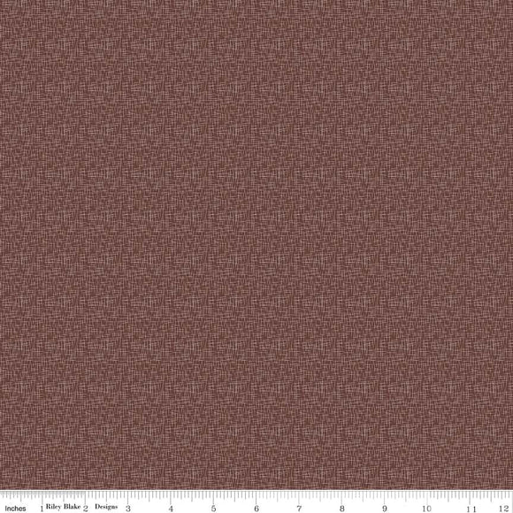 Hashtag Small Brown Yardage  C110 - PRICE PER 1/2 YARD