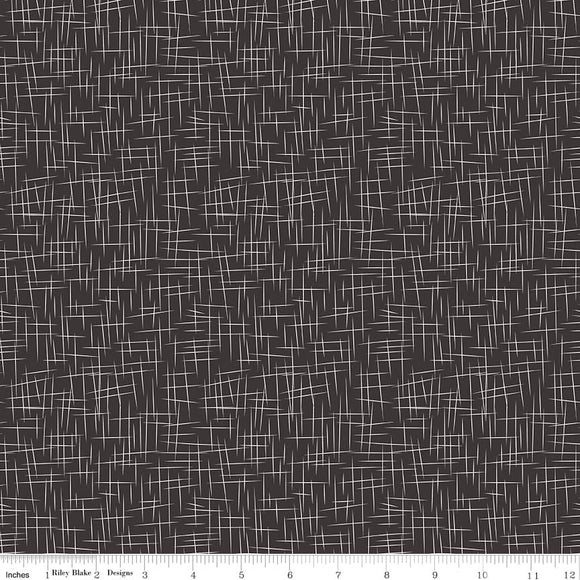 Large Hashtag Black Yardage by RBD  C115 - PRICE PER 1/2 YARD