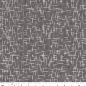Large Hashtag Charcoal Yardage by RBD for Riley Blake Designs C115 - PRICE PER 1/2 YARD