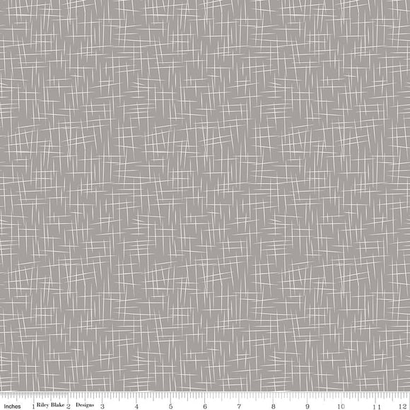 Large Hashtag Gray Yardage  for Riley Blake Designs C115 - PRICE PER 1/2 YARD