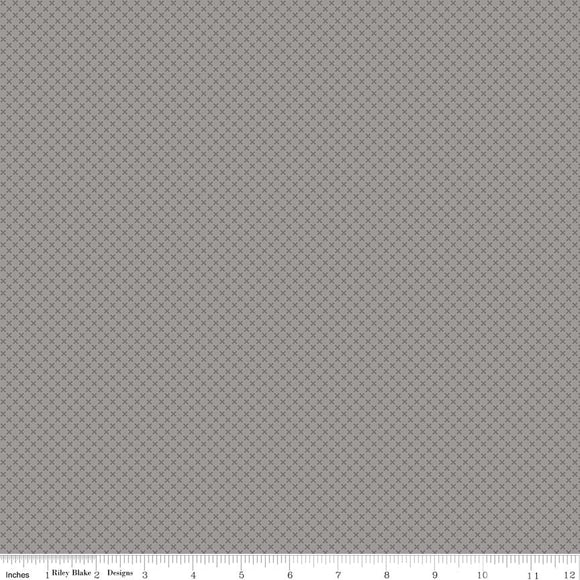 Kisses Tone on Tone Gray Yardage by Doodlebug Designs for Riley Blake Designs-C210 GRAY- PRICE PER 1/2 YARD