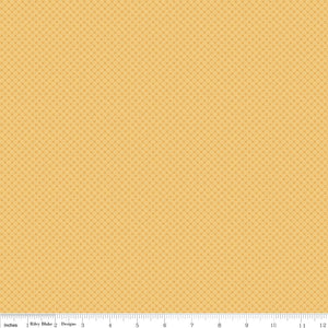 Kisses Tone on Tone Honey Yardage by Doodlebug Designs for Riley Blake Designs-C210 - PRICE PER 1/2 YARD