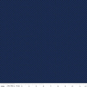 Kisses Tone on Tone Navy Yardage for Riley Blake Designs-C210 NAVY- PRICE PER 1/2 YARD