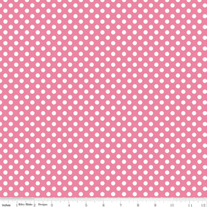 Small Dots Hot Pink Yardage by RBD for Riley Blake Designs C350-70 - PRICE PER 1/2 YARD