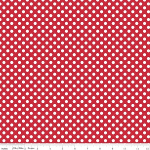 Small Dots Red Yardage by RBD for Riley Blake Designs C350-80 - PRICE PER 1/2 YARD
