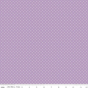 Lavender Swiss Dot Yardage for Riley Blake Designs C670-125 - PRICE PER 1/2 YARD