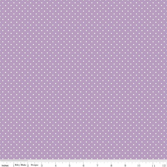Lavendar Swiss Dot Yardage by RBD for Riley Blake Designs C670-125 - PRICE PER 1/2 YARD