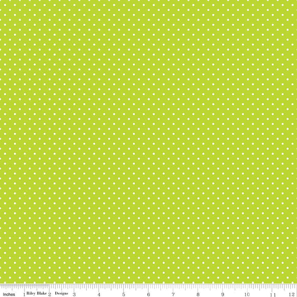 Lime Swiss Dot Yardage by RBD for Riley Blake Designs C670-32 - PRICE PER 1/2 YARD