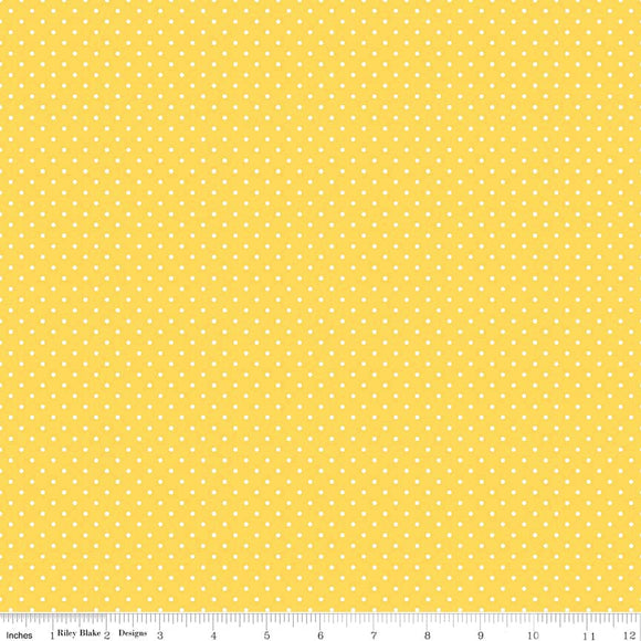 Yellow Swiss Dot Yardage by RBD for Riley Blake Designs C670-50 - PRICE PER 1/2 YARD