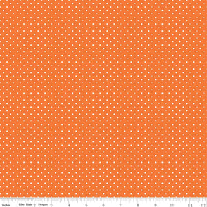 Orange Swiss Dot Yardage by RBD for Riley Blake Designs C670-60 - PRICE PER 1/2 YARD