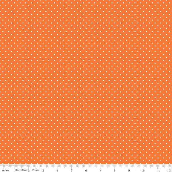 Swiss Dot Orange Yardage by RBD for Riley Blake Designs C670-60 - PRICE PER 1/2 YARD