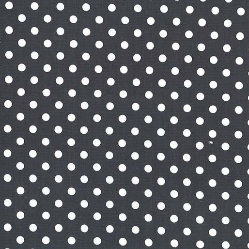 Dumb Dot Gun Metal Yardage by Michael Miller - CX2490-GUNM-D - PRICE PER 1/2 YARD
