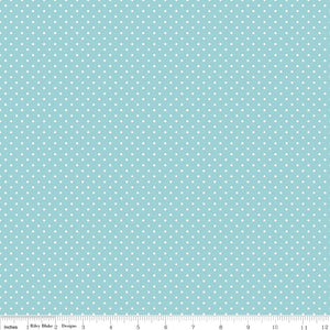 Aqua Swiss Dot Yardage by RBD for Riley Blake Designs C670-20 - PRICE PER 1/2 YARD