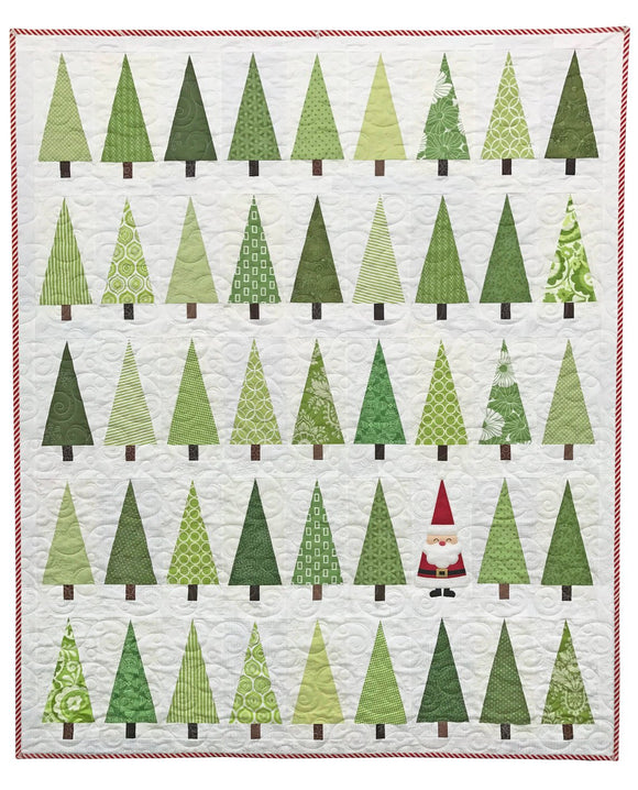 Santa in the Trees Paper Pattern