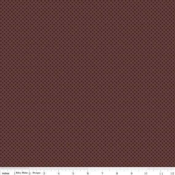 Kisses on Brown Yardage for Riley Blake Designs- C210 - PRICE PER 1/2 YARD