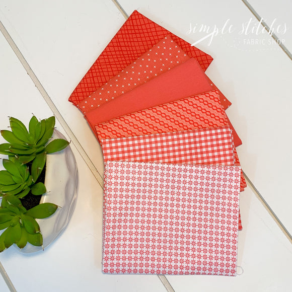 Coral Simple Bundle (6) Fat Quarter Bundle