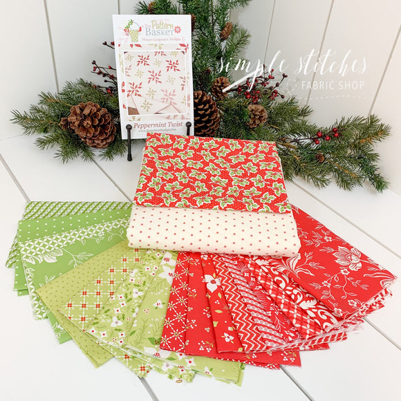 Peppermint Twist Quilt Kit - Red