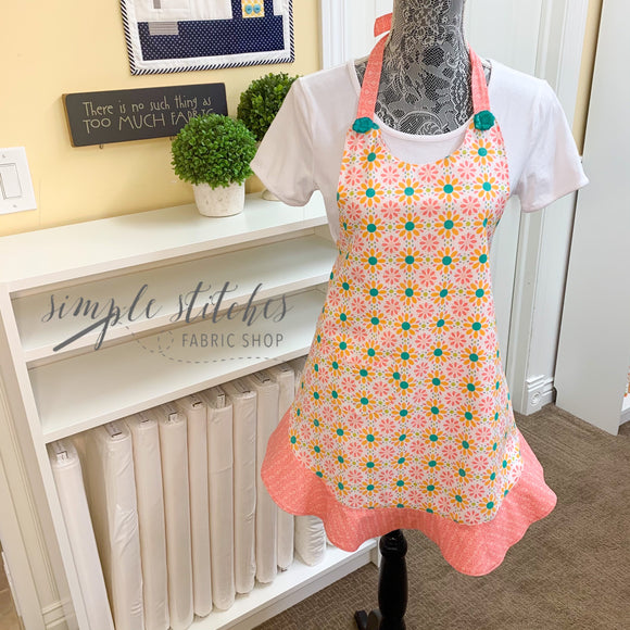 Child's Floral Lined Apron - Made by Janette