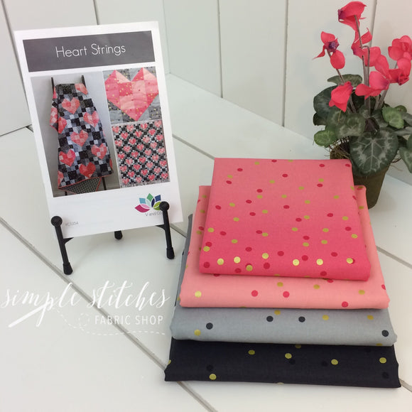 Ombre Heart Strings Quilt Kit by V and Co.