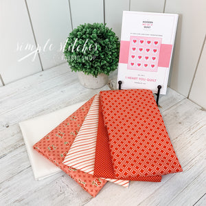 I Heart You Quilt Kit by Then Came June & Pen and Paper Patterns