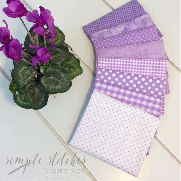 Lavender Simple Bundle (8) Fat Quarter Bundle