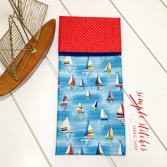 Sailboats Standard Pillowcase Kit with Free Pattern