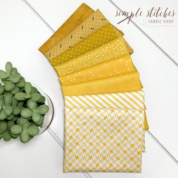 Mustard Simple Bundle (8) Fat Quarter Bundle