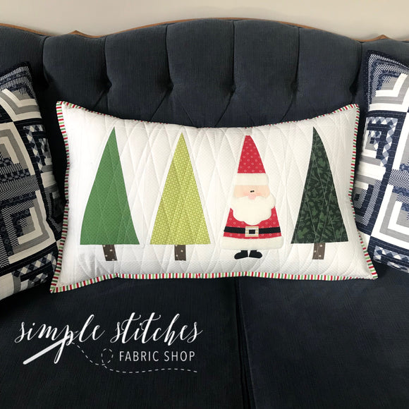 Santa in the Trees Pillow Paper Pattern