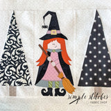 Little Witch in the Trees Pillow Kit