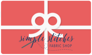 Gift Card - Shopping for someone else but not sure what to give them? Give them the gift of choice with a Simple Stitches Fabric Shop, LLC gift card.