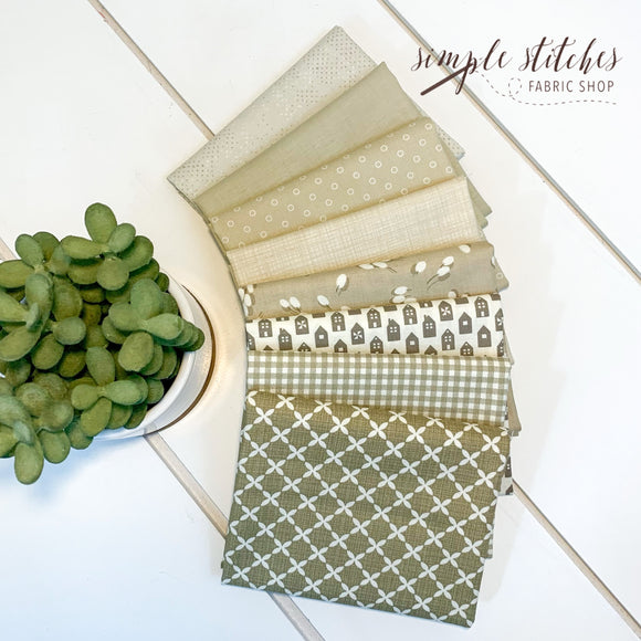 Taupe Simple Bundle (8) Fat Quarter Bundle