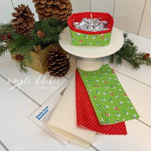 Petit Four Basket Christmas Kit