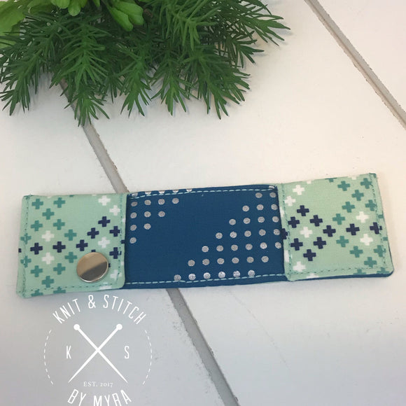 Aqua Double Point Knitting Needle Case - Made by Myra