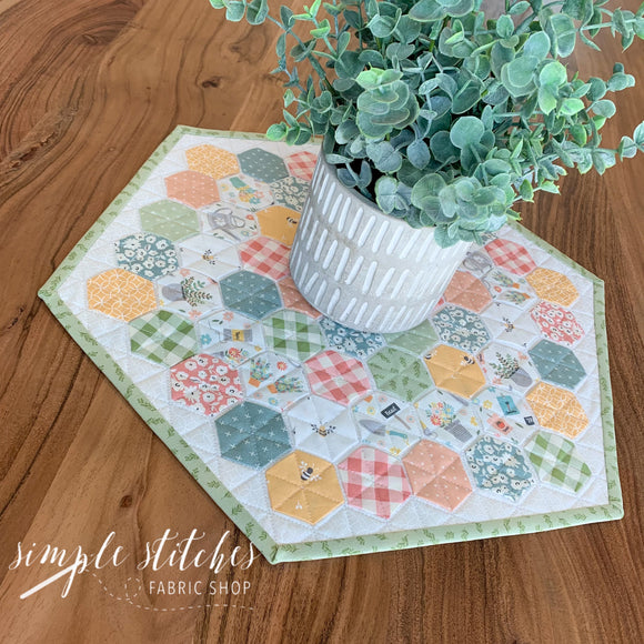 Joy of Gardening Hexie Pillow/Table Topper Kit
