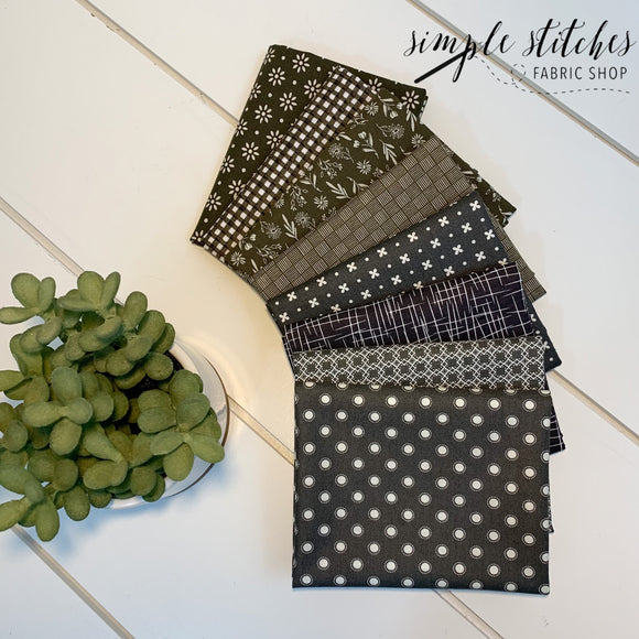 Charcoal Simple Bundle (8) Fat Quarter Bundle