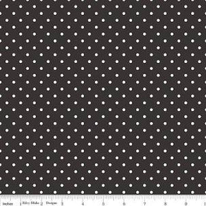 Black Swiss Dot Yardage by RBD for Riley Blake Designs C670-110 - PRICE PER 1/2 YARD