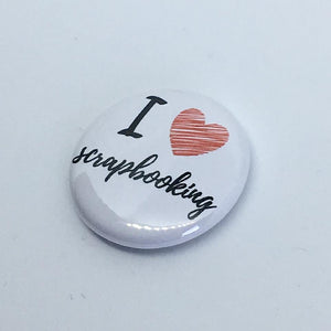 "Badge ""I love scrapbooking"""