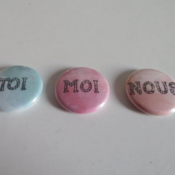 Lot de 3 badges
