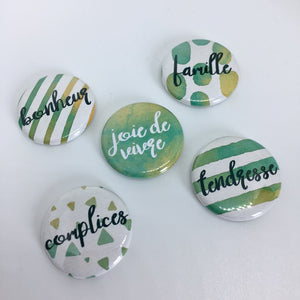 "Lot de badges ""Complices"""