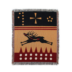 """Elk Medicine"" Cotton Throw"
