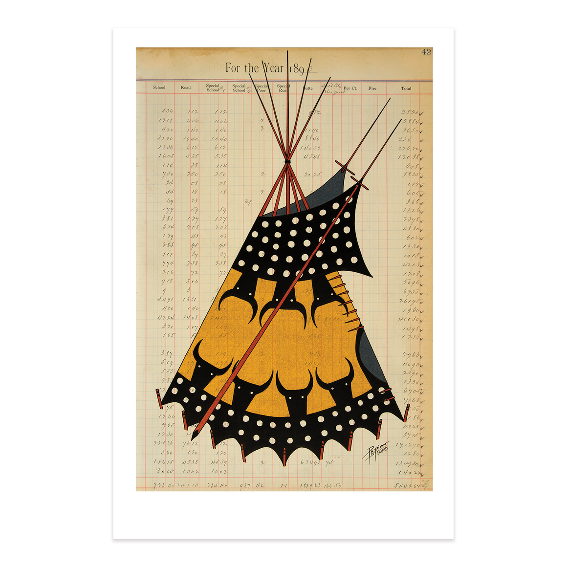 """Piikani Painted Lodge"" Print"