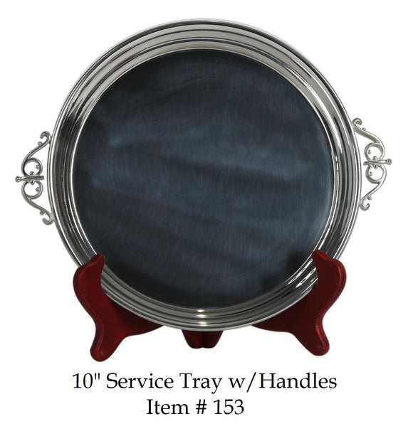 Pewter Service Tray with Handles