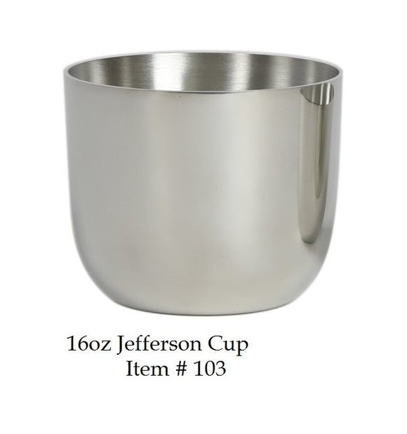 Jefferson Cup 16 oz Item #103